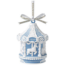 Buy Wedgwood Baby Carousel Decoration, Blue Online at johnlewis.com