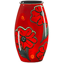 Buy Poole Pottery Poppyfield Manhattan Vase, H26cm Online at johnlewis.com