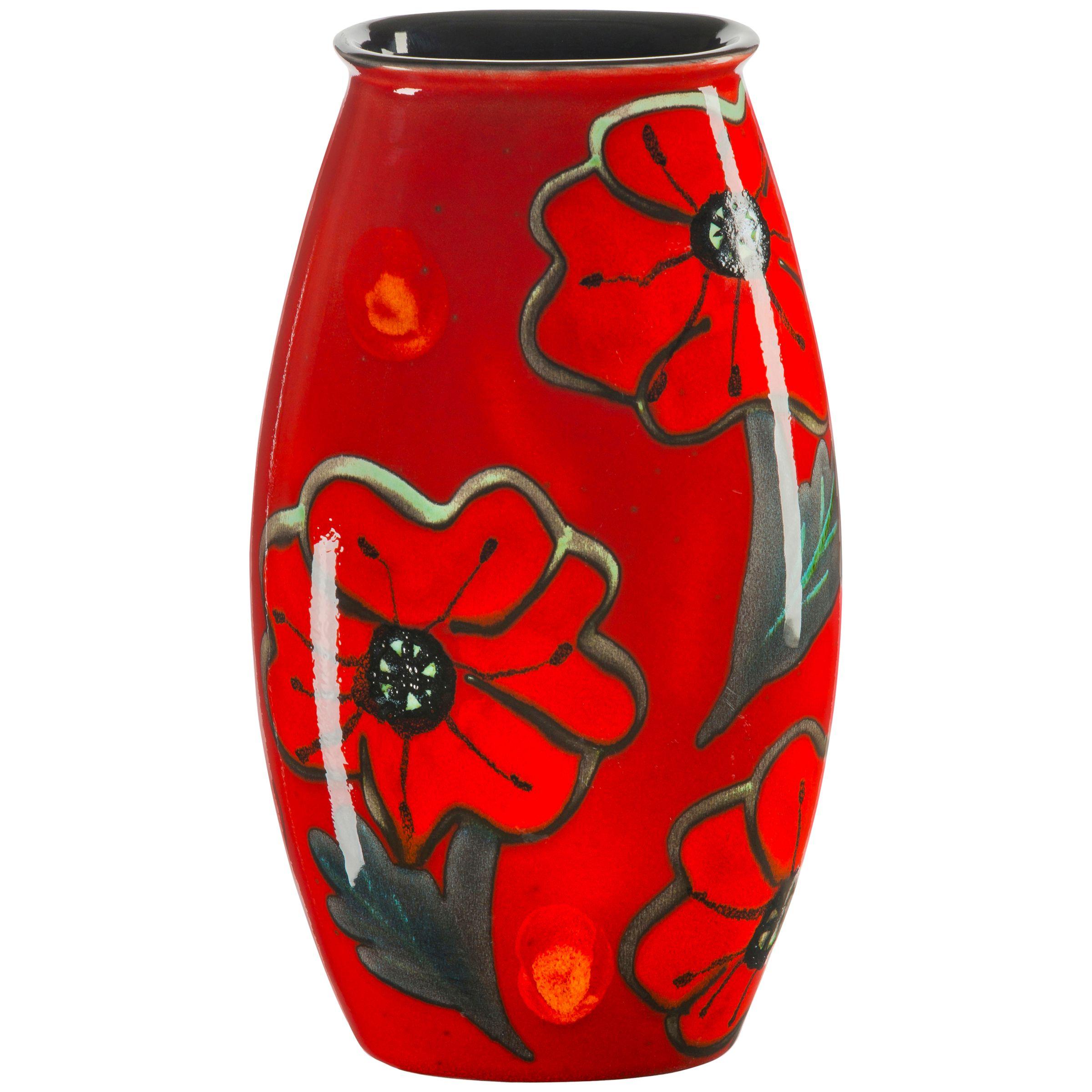 Poole Pottery Poole Pottery Poppyfield Manhattan Vase, H26cm