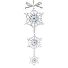 Buy Wedgwood Hanging Snowflake Decoration Online at johnlewis.com