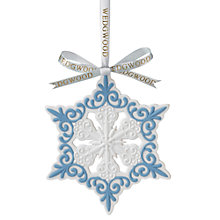 Buy Wedgwood Pierced Snowflake Decoration Online at johnlewis.com