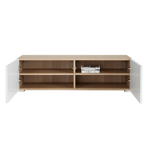 Buy House by John Lewis Match Low Storage Unit, Oak/White Online at johnlewis.com
