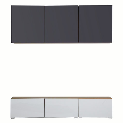 Buy House by John Lewis Match 180cm Floor and Floating Units, Oak/White Online at johnlewis.com