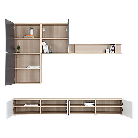Buy House by John Lewis Match 240cm Floor and Floating Shelf Units, Oak/White Online at johnlewis.com