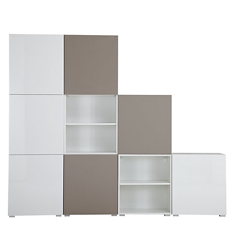 Buy House by John Lewis Match Tall 240cm 7-Door Shelf Unit, White/Mocha Online at johnlewis.com