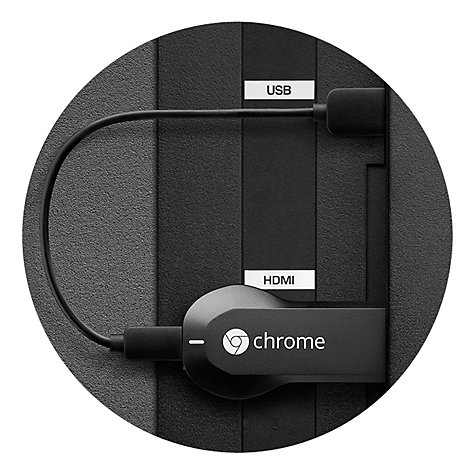 Buy Google Chromecast, HDMI Media Streaming Device Online at johnlewis.com