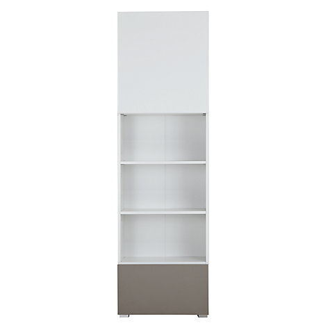 Buy House by John Lewis Match Tall 2-Door Single Shelf Unit, White/Mocha Online at johnlewis.com