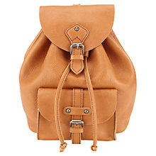 Buy Jigsaw Amelia Leather Backpack, Tan Online at johnlewis.com