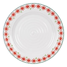 Buy Sophie Conran for Portmeirion Christmas Cane Dinner Plate Online at johnlewis.com