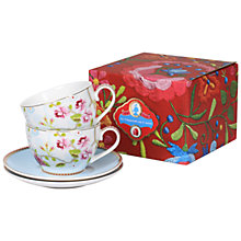 Buy PiP Studio Chinese Rose Cups and Saucers, Set of 2 Online at johnlewis.com