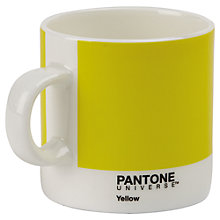 Buy Pantone Espresso Mug, Custard Yellow Online at johnlewis.com
