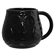 Buy John Lewis Owl Mug, Black Online at johnlewis.com
