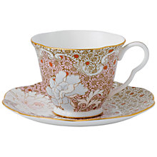 Buy Wedgwood Daisy Cup & Saucer, Pink Online at johnlewis.com