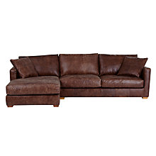 Buy John Lewis Baxter LHF Chaise End Sofa, Rialto Bruno Online at johnlewis.com