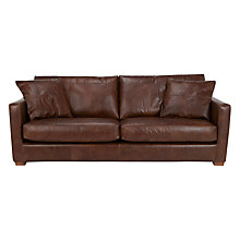 Buy John Lewis Baxter Grand Leather Sofa, Antique Cigar Online at johnlewis.com