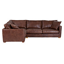 Buy John Lewis Baxter LHF Corner End Leather Sofa, Rialto Bruno Online at johnlewis.com