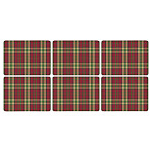 Buy Pimpernel Tartan Placemats, Set of 6 Online at johnlewis.com