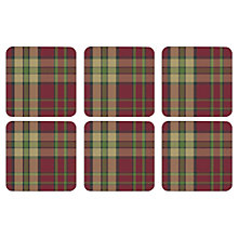 Buy Pimpernel Tartan Coasters, Set of 6 Online at johnlewis.com