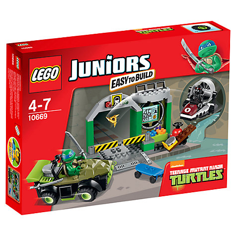 Buy LEGO Juniors Turtles' Lair Online at johnlewis.com