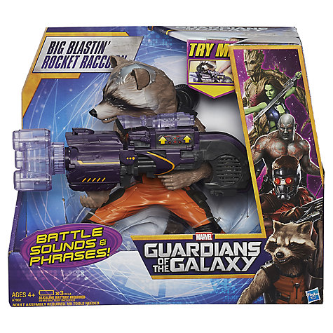 Buy Marvel Guardians of the Galaxy Big Blastin' Rocket Raccoon Online at johnlewis.com