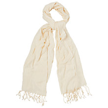 Buy Phase Eight Megan Pashmina, Cream Online at johnlewis.com