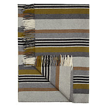 Buy Bronte by Moon Stripe Throw, Grey / Multi Online at johnlewis.com