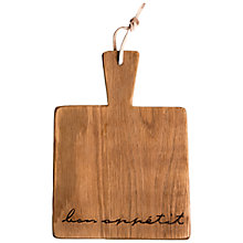 Buy Dassie Bon Appetit Handled Board Online at johnlewis.com