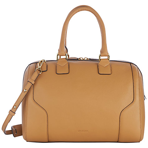 Buy Jaeger Hastings Leather Bowling Bag, Caramel Online at johnlewis.com