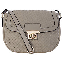 Buy Oasis Whitney Weave Saddle Bag, Mid Grey Online at johnlewis.com