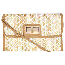 Buy Oasis Straw Weave Clutch Bag Online at johnlewis.com