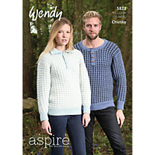Buy Wendy Chunky Knitting Pattern, 5823 Online at johnlewis.com