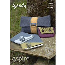 Buy Wendy Chunky Knitting Pattern, 5825 Online at johnlewis.com