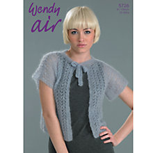 Buy Wendy Air Lace Cardigan Knitting Leaflet Online at johnlewis.com