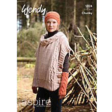 Buy Wendy Chunky Knitting Pattern, 5824 Online at johnlewis.com