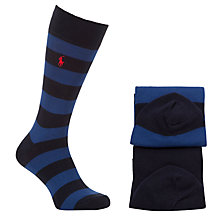 Buy Polo Ralph Lauren Striped Rugby Socks, Pack of 2, One Size Online at johnlewis.com