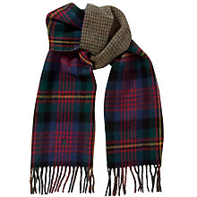 Buy Polo Ralph Lauren Lambswool Blend Tartan Double Faced Scarf, Green/Blue Online at johnlewis.com