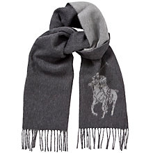 Buy Polo Ralph Lauren Big Pony Jacquard Scarf, Grey Online at johnlewis.com