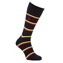 Buy Polo Ralph Lauren Preppy Stripe Egyptian Cotton Socks, One Size, Navy Online at johnlewis.com