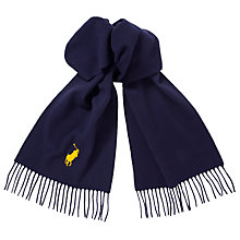 Buy Polo Ralph Lauren Big Pony Lambswool Scarf, Navy Online at johnlewis.com