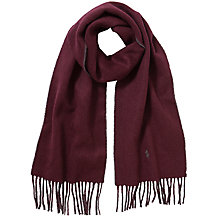 Buy Polo Ralph Lauren Wool Blend Scarf, Burgundy Online at johnlewis.com