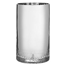 Buy John Lewis Glass Candle Holder, Silver Online at johnlewis.com