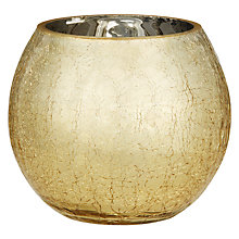 Buy John Lewis Crackle Tealight Holder, Gold Online at johnlewis.com