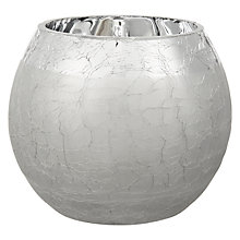 Buy John Lewis Frosted Tealight Holder, Silver Online at johnlewis.com