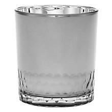 Buy John Lewis Small Glass Tealight Holder, Silver Online at johnlewis.com