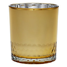 Buy John Lewis Small Glass Tealight Holder, Gold Online at johnlewis.com