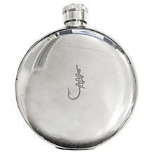Buy Hook Line & Sinker Hip Flask, Silver Online at johnlewis.com