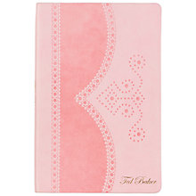 Buy Ted Baker Brogue A5 Notebook, Pink Online at johnlewis.com