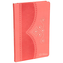 Buy Ted Baker Brogue A5 Notebook, Coral Online at johnlewis.com