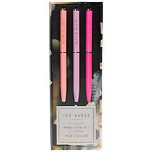 Buy Ted Baker Mini Pens, Set of 3 Online at johnlewis.com