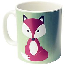 Buy A Piece Of Personalised Fox Mug, Light Green Online at johnlewis.com